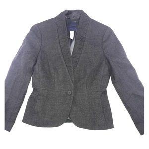 J Crew Blazer Wool Dark Grey Size 4